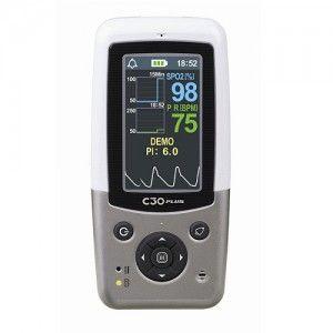 OxÍmetro de pulso de mano con Software, adaptador y batería recargable