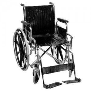 Silla de ruedas estándar cromada con descansapies desmontables de aluminio Cat HNY-S300 Handy