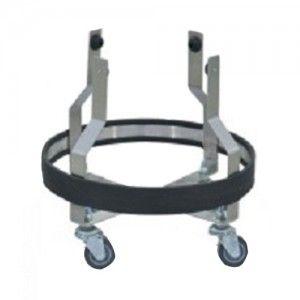 Portacubeta de patada de acero inoxidable sin cubeta Cat CIS-6800 Ciiasa