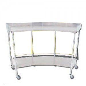 Mesa riñon con entrepaño de acero inoxidable  Cat. CIS-5900