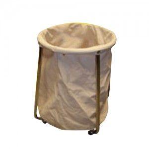 Carro para ropa sucia tubular cromado Cat. CIS-3110