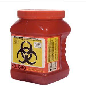 Recolector de polipropileno para liquidos color rojo 1.7 Lts. económico Cat A1C-PL-1R A1 Contenedores