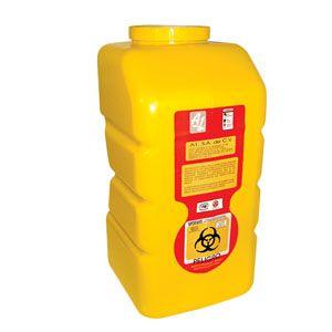 Recolector De Polipropileno Para Liquido, Amarillo, Capacidad Volumen: 12.0 Lts. Cat A1C-PL-12-A A1 Contenedores