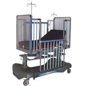 Cama pediatrica con sistema neumático Mod. AMP-NIP050 de 2 posiciones Cat AMP-NIP050A-N Ampesa