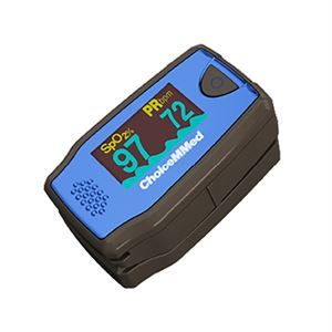 Oximetro de pulso pediatrico 6 modos de pantalla, onda pletismografica color azul cat COD-MD300C5 ChoiceMMed