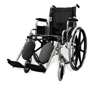 Silla de ruedas suprema cromada Cat HER-S400 Hergom