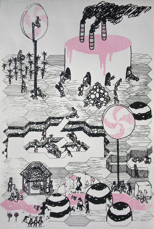 Full brian spolans lollipop kingdom 2009 screenprint on paper
