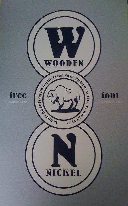 Full wooden font poster