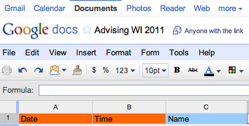 Preview googledocs