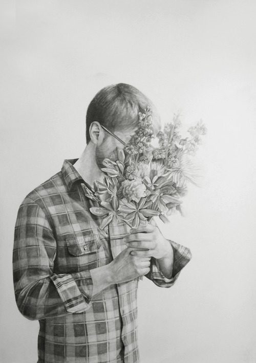 Full send me dead flowers.graphite on paper.2010