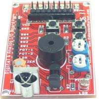 Digital and Analog IO Interfacing All Purpose Board
