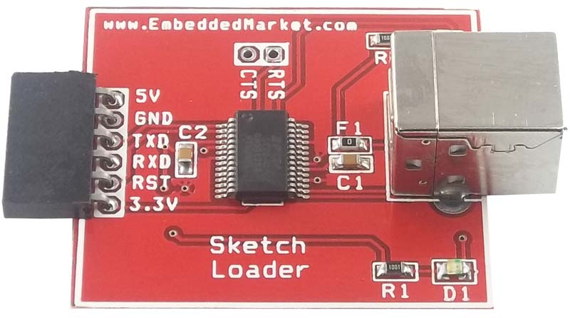 Arduino sketch loader circuit rs india made by