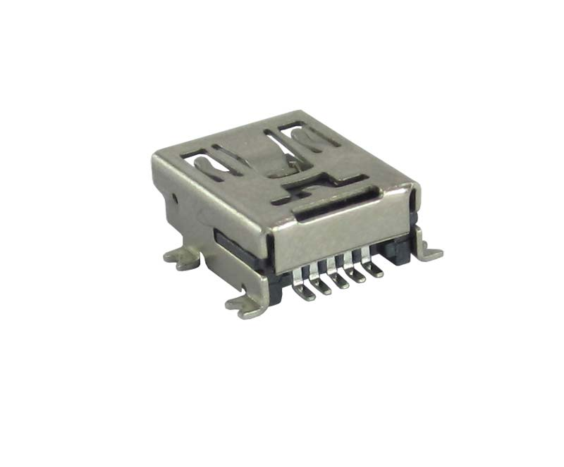 USB Connector 5 Pin Mini USB Female SMD - Rs.10.6 India - Made By - EMT