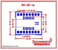 SOIC16 To DIP Adapter 16 Pin