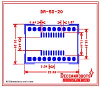 SOIC20 To DIP Adapter 20 Pin