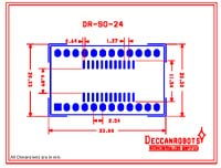 SOIC24 To DIP Adapter 24 Pin