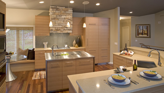 Naturally Modern Kitchen Design, Eden Prairie, MN