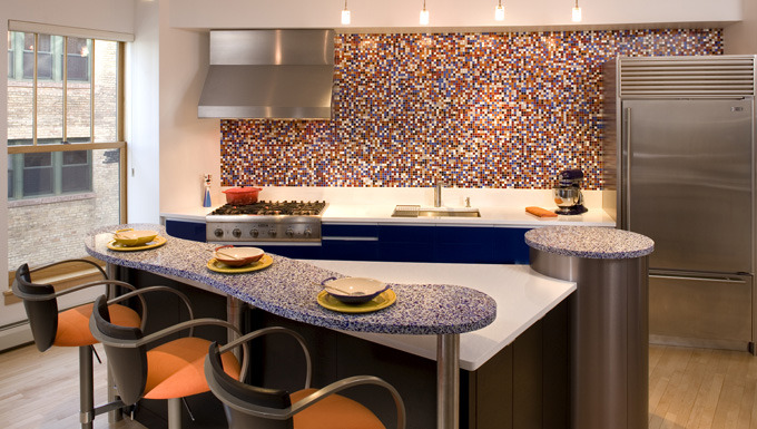 Kitchen Design: Color and Pizzazz
