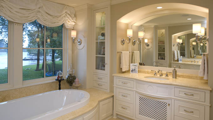 Bath lighting minneapolis interior decorating for Elegant master bathroom ideas