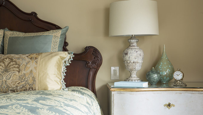Magical Master Suite, Bedside Detail