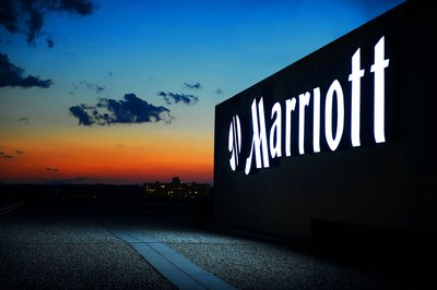 The Marriott sign also received an LED upgrade