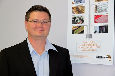 Mark Dingley, new general manager of operations for Matthews