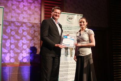 Anna Roland, winner of the APPMA 2012 Scholarship, with Mark Dingley.