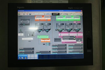 Complete plant visualisation using Schneider Electric's SCADA package