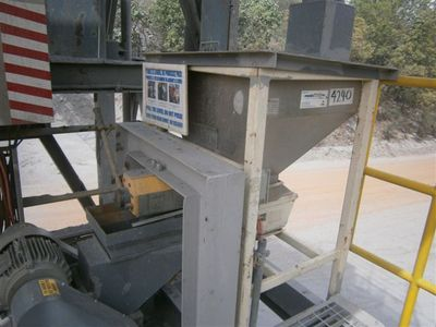 The Enmin feeder in operation at the gold mine in West Africa.