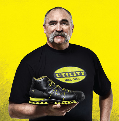 Merv Hughes will be at the Diadora Utility Safety Boots stand