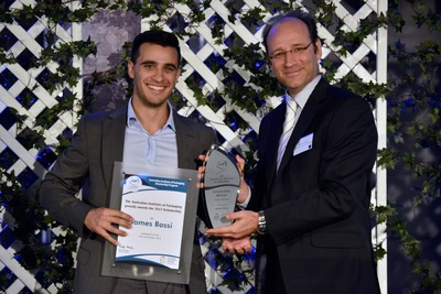 AIP scholarship winner James Bossi with AIP NSW Chairman Brent Du Preez.