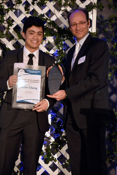Justin Chong with AIP NSW Chairman Brent Du Preez.