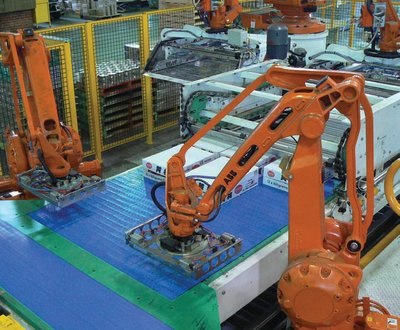 Figure 2: Robots elevate the nature of work by reducing large lifting requirements.
