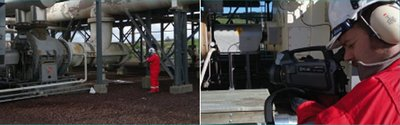 Using thermal imaging cameras, Inspectahire can easily detect gases in difficult to reach or hazardous locations.