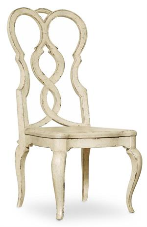 Splatback Wood Seat Side Chair