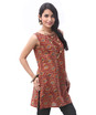 kalamkari bias sleeveless tunic