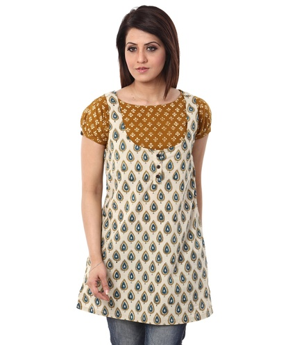 kalamkari print layered tunic