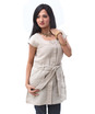 linen coat style tunic with belt