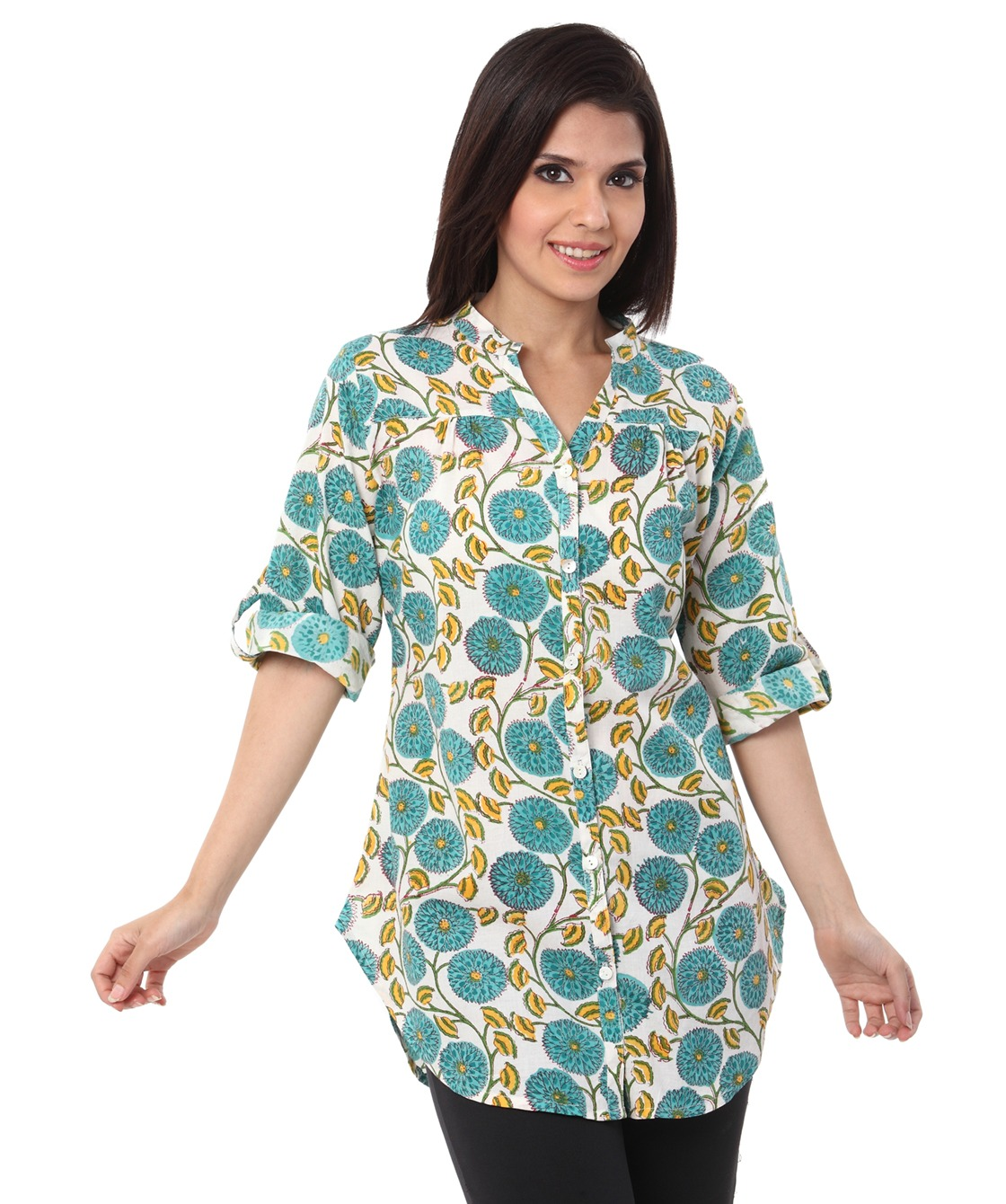 floral jal shirt tunic