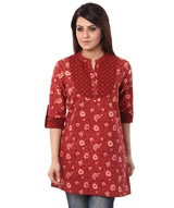 floral-jal-tunic-with-bandhej-yoke