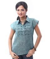 linen-pleated-shirt