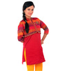 chanderi tunic with koti