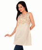 brocade chanderi boat neck tunic