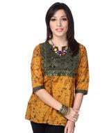 batik-color-block-kurti