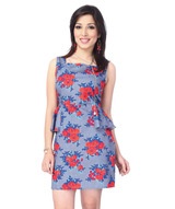 peplum-rose-print-dress