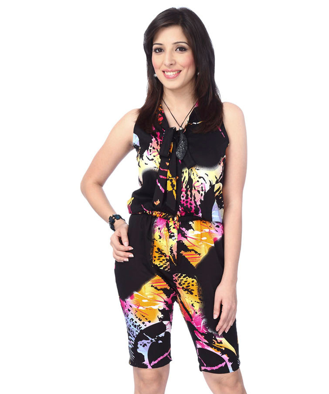 Abstract print jumpsuit