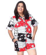flashy-jigsaw-print-romper