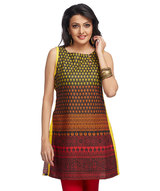 gradient-print-sleeveless-kurti