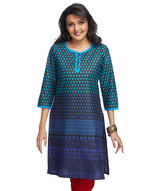 gradient-print-long-kurta