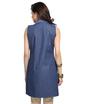 Denim and ikat print tunic